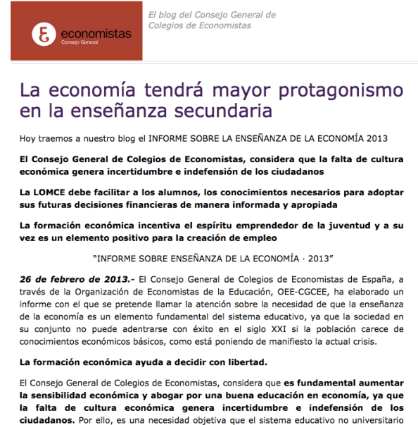 captura blog consejo general colegio economistas